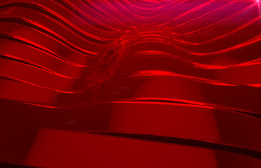 red glass background