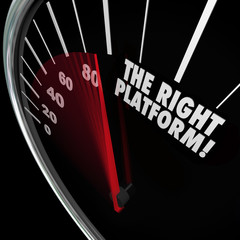 The Right Platform Speedometer Choose Best System Process Manage