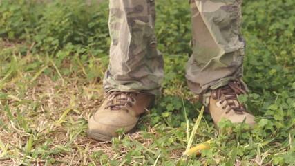 Hunter Drops Shell Puts Down Rifle Front