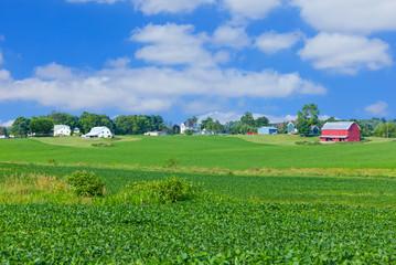 Indiana rural farm country ,crop, field ,barn(P)