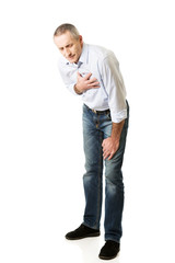Mature man with heart disease