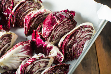 Grilled Radicchio with balsamic sauce