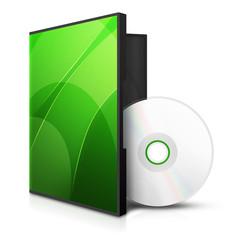 Zielona ikona dysku z pudełkiem