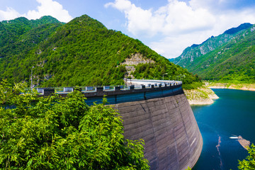 Big dam.  Dam in the Mountains
