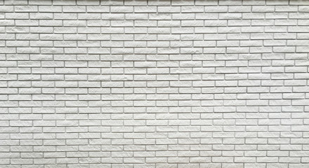 Wide view of white brick wall