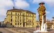 Frozen Meret Oppenheim Fountain in Bern, Switzerland - 78558249