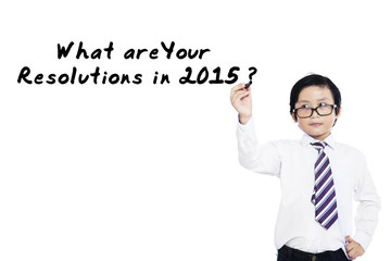 Boy with a resolution question