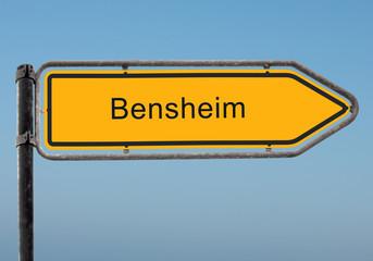 Strassenschild 35 - Bensheim