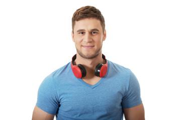 Handsome man with headphones.
