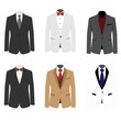 Set of 6 illustration handsome business suit - 78561876