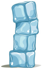 A pile of icecubes