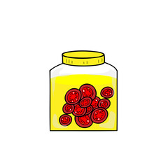 Bottle tomatoi perserved in salt water