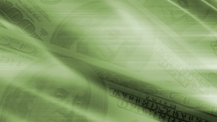 Animated Green Money Abstract Looping Background