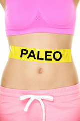 Paleo diet concept - word on stomach