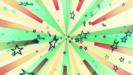 Animated Stars Retro Multicolor Looping Background