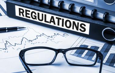 regulations label on folder