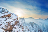 Seoraksan in winter with sunset,Famous mountain in Korea poster