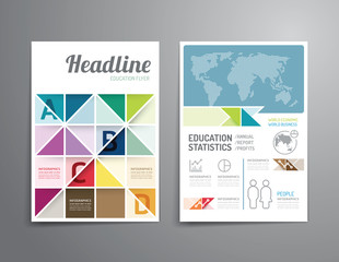 Vector brochure, flyer, magazine cover booklet poster design
