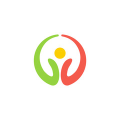 eco symbol round logo