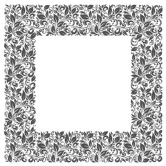 Square frame of patterns and leaves