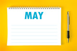 May Calendar Blank Page