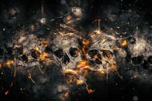 "Постер, картина, фотообои ""Skulls and Bones"""