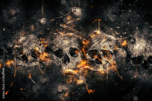 Leinwandbild Motiv Skulls and Bones