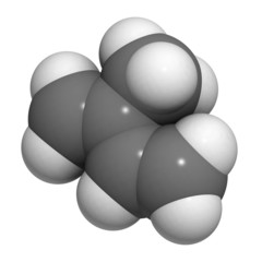 Isoprene, rubber (polyisoprene) building block (monomer).