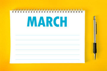 March Calendar Blank Page