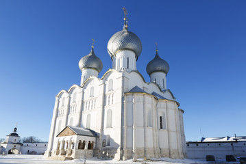Dormition Cathedral in  the Kremlin of Rostov the Great,  Russia