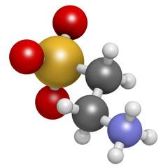 Taurine (2-aminoethanesulfonic acid) molecule.