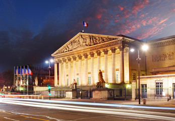 Assemblee Nationale (Palais Bourbon) - the French Parliament, Pa