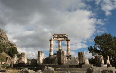 Temple of Athena Pronaia in Delphi