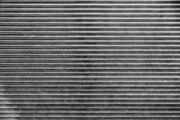 monochrome fragment of metal blinds