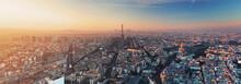 """Постер, картина, фотообои """"Panorama of Paris at sunset"""""""
