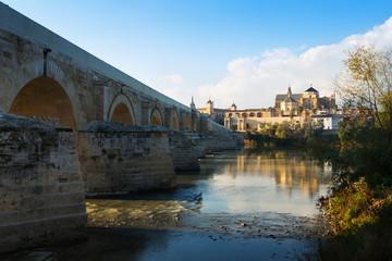 Roman bridge and Cathedral of Cordoba