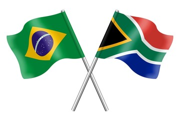 Flags: Brazil and South Africa