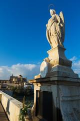Detail of Roman bridge  in Cordoba.   Andalusia, Spain