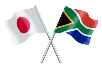 Flags: Japan and South Africa