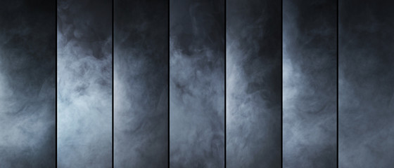 Smoke texture collection. Different shapes of a gas.