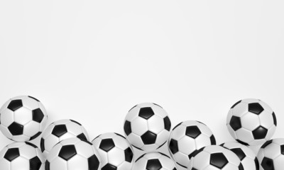 Soccer Balls on the white Background