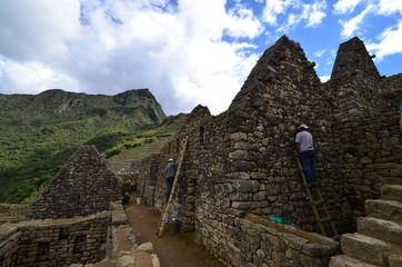 マチュピチュ遺跡の補修