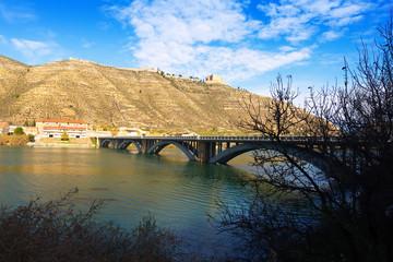 View of Bridge over reservoir of Mequinenza