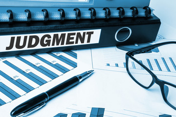 document folder with label judgment