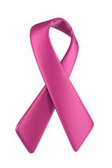 Pink ribbon angled