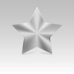 Metal star, silver.