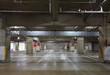 Parking garage underground interior, neon lights in dark - 78569022