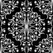 seamless damask ornament on blask background