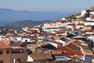 Residential districts in andalusian town.  Alcaudete