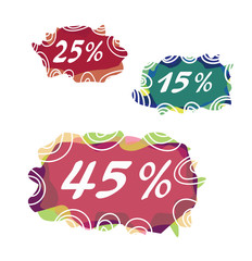 Sale discount elements vector